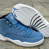 Air Jordan Retro 12 North Carolina AJ 12 Men Basketball Shoes