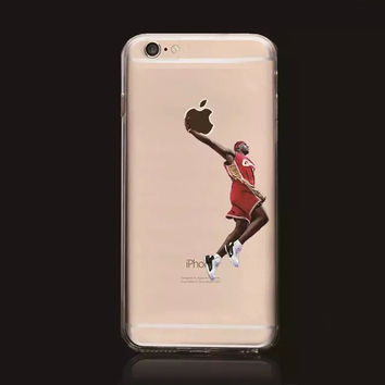 LeBron James Cleveland Cavaliers Basketball Stars Hard Plastic Cover Shell Case for iPhone 6/6s