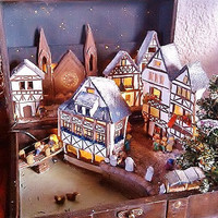 Miniature landscape / Christmas / Nativity in Suitcase