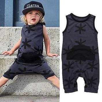 Newborn Summer Rompers Cute Toddler Baby Girl Boy Cotton Jumpers Rompers Playsuit Outfits Clothes 0-3Y