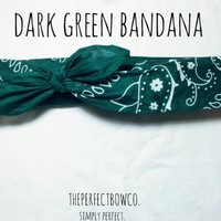 Dark Green Bandana