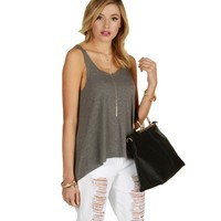 Sale-hard Not To Love Heather Gray Tank