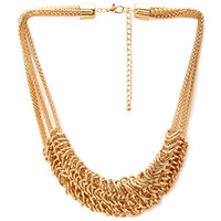 FOREVER 21 Layered Snake Chain Necklace Gold One
