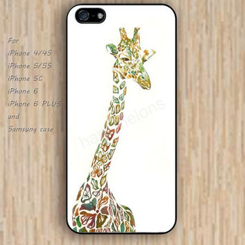 iPhone 4/4s 5s 6 case giraffe watercolor dream catcher colorful phone case iphone case,ipod case,samsung galaxy case available plastic rubber case waterproof B633