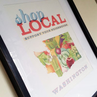 Shop Local Washington State Print