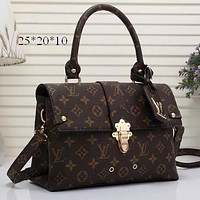 Perfect LV Louis Vuitton Cute Pattern Leather Travel Bag Backpack