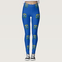 Leggings with flag of Nevada State, USA