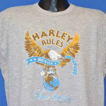 80s Harley Davidson Rules Eagle Sleeveless t-shirt Extra Large