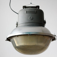 Industrial Street Pendant Light / Outdoor Ceiling Lighting Light - Brevettato Italy - 70s