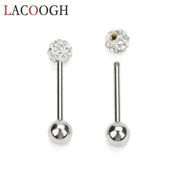 Stainless Steel Gold Color Tongue Rings Nose Rings Studs For Women Labret Lips Piercing Septum Clicker Body Piercing Jewelry