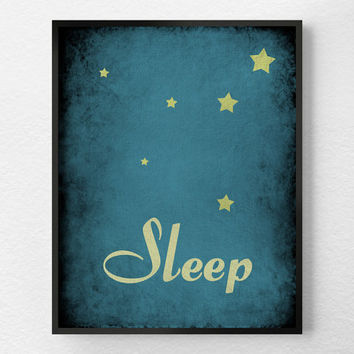 Bedtime Print, Nursery Art Print, Nursery Wall Art, Kids Wall Art, Inspirational Print, Wall Art, Typography Poster, Bedroom Art