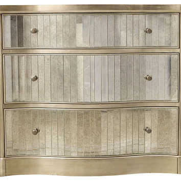 Nancy Mirrored 3-Drawer Chest, Chest of Drawers