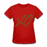 GOLD GLITZ PRINT! XO, Valentines Day Women's T-Shirt