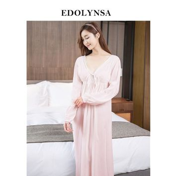 Nightgowns Sleepshirts 2018 Sexy Dresses Princes Lace Sleepwear Home Dress Solid Sleep & Lounge Nightdress Nightgown Female#H420
