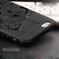 Embossment Phone Case For iPhone 6 6S Plus 7 7 Plus 5s 5 SE High Quality Silicone Cover Luxury Dragon Covers For iPhone 6 Case-04410