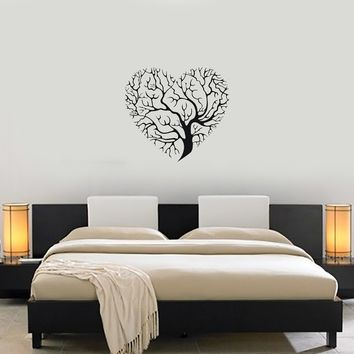 Vinyl Decal Decor Wall Sticker Mural Love Tree Heart Nature Unique Gift (g023)