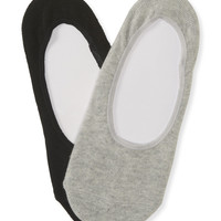 PS from Aero  Kids' 2-Pack Solid No-Show Socks