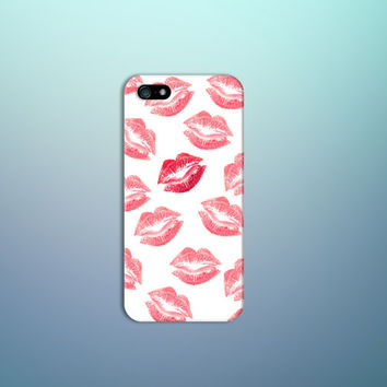 Red Lipstick x Kiss Design Case for iPhone 6 6 Plus iPhone 5 5s 5c iPhone 4 4s Samsung Galaxy s5 s4 & s3 and Note 4 3 2