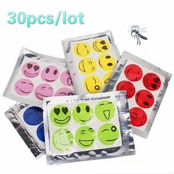 30Pcs repellent against mosquitoes sticker patch smiling face insect repellent cartoon anti mosquito killer sticker