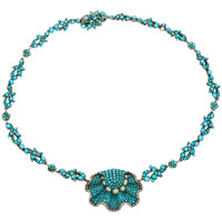 Birth of the Blue: A Magnificent Turquoise and Natural Pearl Necklace