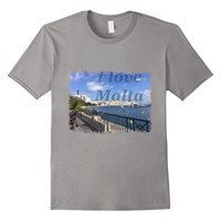 T-Shirt I Love Malta Tourist Summer Valeta
