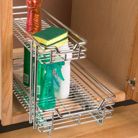 Chrome 2-Tier Sliding Organizer