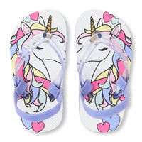Toddler Girls Unicorn Flip Flop | The Children's Place