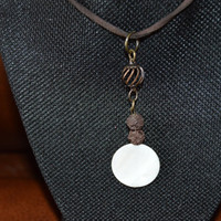 Natural Stone & Brown Lava Beads Aromatherapy/Essential Oil Diffuser Necklace