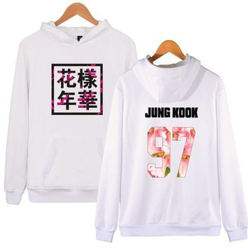KPOP BTS Bangtan Boys Army Korean  Boys   Women Hoodies Sweatshirts Letter Printed in jimin 95 and SUGA 93 women's tracksuits JUNG KOOK 97 AT_89_10