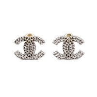 Chanel Vintage Perforated Logo Clip-on Earrings - Bella Bag - Farfetch.com