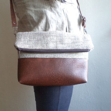 Crossbody bag, Everyday shoulder bag, Foldover purse