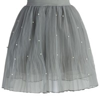 Pearly Stars Tulle Skirt in Smoke