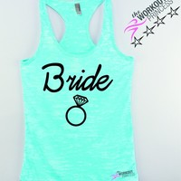 Bride Workout Tank , bridal shirt, bachelorette party shirt