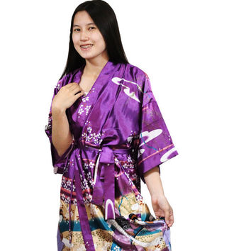 Maternity robe Bridesmaid Personalized Robes Cotton Kimono Robe Monogrammed wedding satin robes for bridal party bridesmaids kimono robes