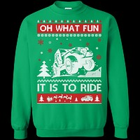 Jeep Sweater Christmas Oh What Fun It Is To Ride