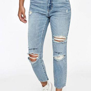 ONETOW PacSun Marley Blue Mom Jeans at PacSun.com