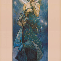 Alphonse Mucha Luna The Moon Poster 24x36