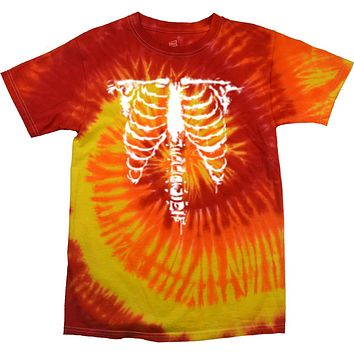 Halloween Skeleton Tie Dye T-shirt