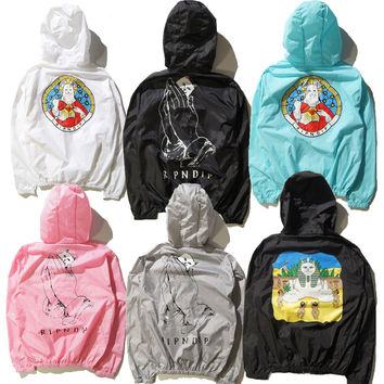 Dmart7dealRipndip Pray Lord Nermal The Pyramid Sun Jackets Men Women Fashion Summer Sunproof Jackets Brand Clothing YEEZY PALACE Coats