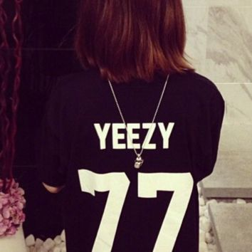 YEEZY 77 men's and women's short-sleeved T-shirt