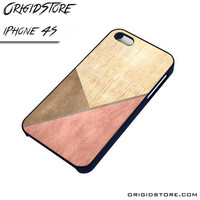 Chevron Wood Triangle Case For Iphone 4/4S Case