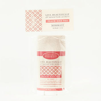 SALE - Natural Deodorant, Peach Iced Tea - Aluminum Free Deodorant - Ripe Peach, Sparkling Tea, Fresh Lemon - Natural Body