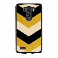 Chevron Classy Black And Gold Printed LG G3 Case