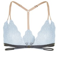 Contrast Lace Triangle Bra - Lingerie - Clothing