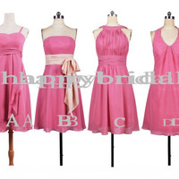 Short Pink Bridesmaid Dresses Prom Dresses Party Dresses 2014 Wedding Events 2014