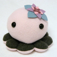 Flower plush octopus toy