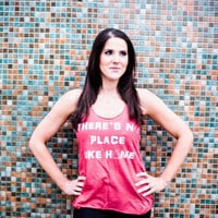 There's no place like home racerback tank top