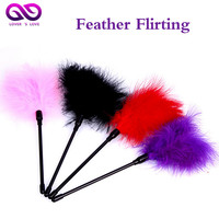 26CM 4 Color Purple Flirting Feather Sex Toy