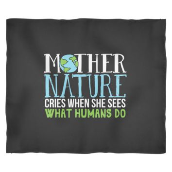 Earth Day Blanket by Living You Co. | Earth Day Fleece Blanket, Mother Nature Blanket, Planet Earth Blanket