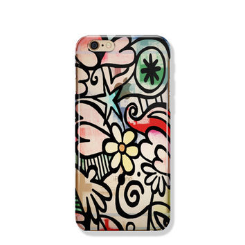 Floral iPhone 6 Plus Case Clear Flower iPhone 6 Case Clear iPhone 6 Case iPhone SE Case iPhone 6s Case Soft Silicone iPhone Case No: 88